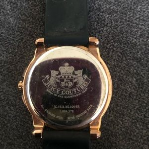 Juicy Couture Watch with rhinestones black band